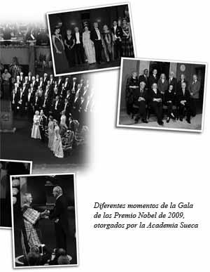 Foto: Diferentes momentos de la Gala de los Premio Nobel de 2009, otorgados por la Academia Sueca